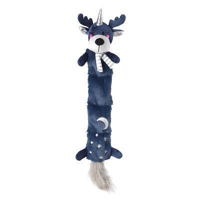 House of Paws Christmas Reindeer Multi Squeaker Starry Night Dog Toy | Unstuffed
