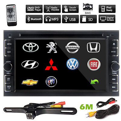 """Double 2Din 6.2"""" In Dash Stereo Car DVD CD Player Bluetooth Radio iPod SD/USB"""