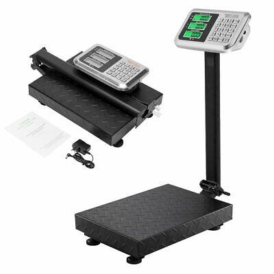 220lb 100kg Weight Price Scale Digital Floor Platform Shipping Warehouse Postal