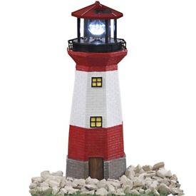 Garden lighthouse feature solar light