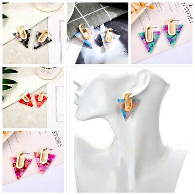 2019 New Women Bohemian Inverted triangle Geometric Acrylic Ear Fashion -