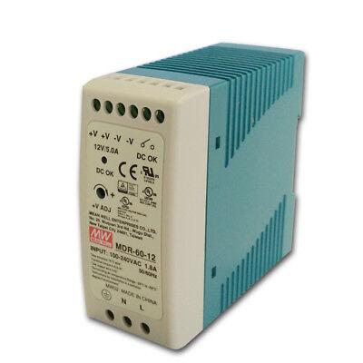 Mdr-60 60w Single Output 5v 12v 24v 48v Din Rail Switching Power Supply Acdc