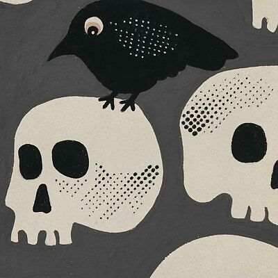 Tricky Crow, By The Yard, Gray, Alexander Henry, Halloween, 8744C, TheFabricEdge - Henry Halloween