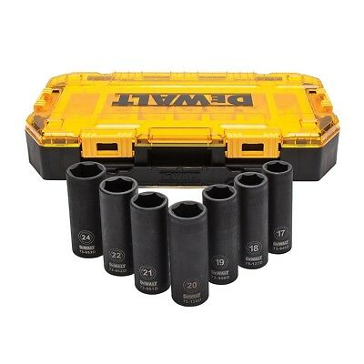 DEWALT DWMT74737 Tough Box 7PC Metric 1/2 Deep Drive Impact