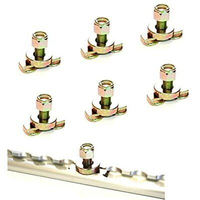(Pack Of 6) L-Track Double Lug Threaded Stud Nut Fitting Tie Down (No Included)
