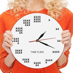 Pun of The Day Time Flies Wall Clock Watch Decorative Modern Wall Clock