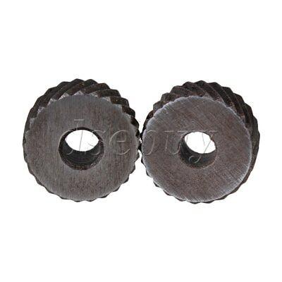 2pcs Positive Negativ Knurling Tool Silver Diagonal Wheel Knurl 2mm Pitch