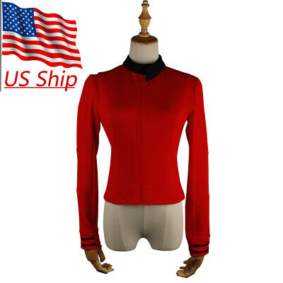Star Trek Discovery Season 2 Starfleet Commander Nhan Red Uniform Pin Costumes - Red Costumes