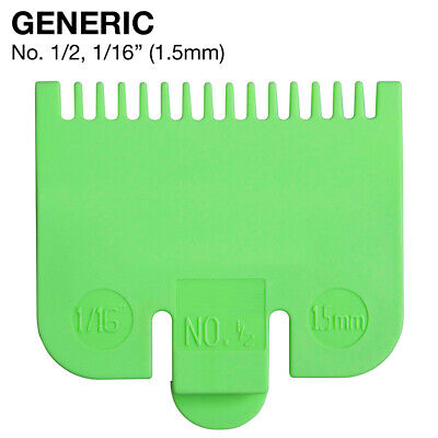 FITS WAHL Barber Pro Clipper Hair Guide No. 1/2 Attachment Comb 1/16