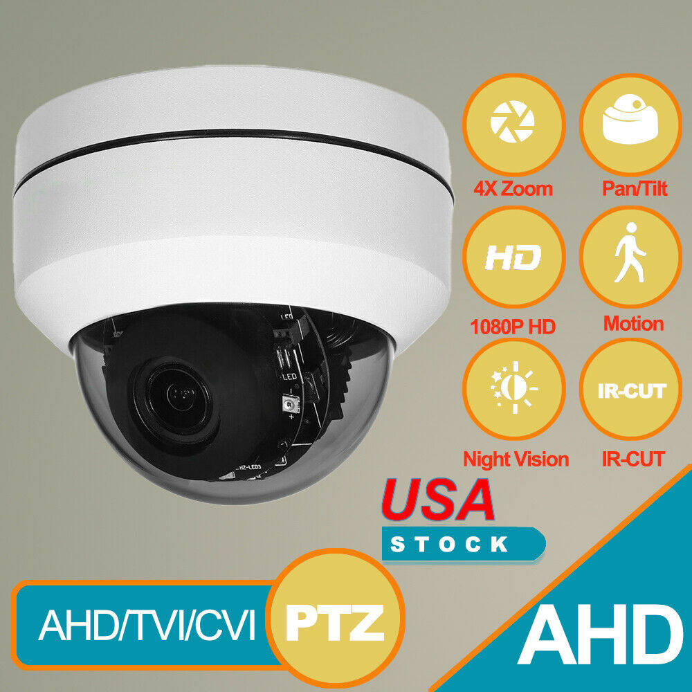 Outdoor 2.0MP Security 1080P AHD 4X Zoom Speed Dome 4in1 PTZ Camera HD Analog US - $75.99