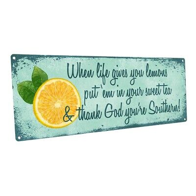 When Life Gives You Lemons Metal Art Print for Decorating Kitchen and Dining