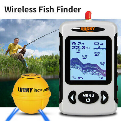 Professionelle Echolot Wireless Sonar Fish Finder Fischersonde Detector A9E8 Detector Finder