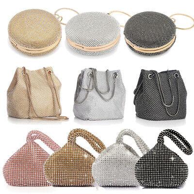 Women Crystal Rhinestone Evening Clutch Bag Banquet Handbag Fashion Party (Crystal Evening Clutch)