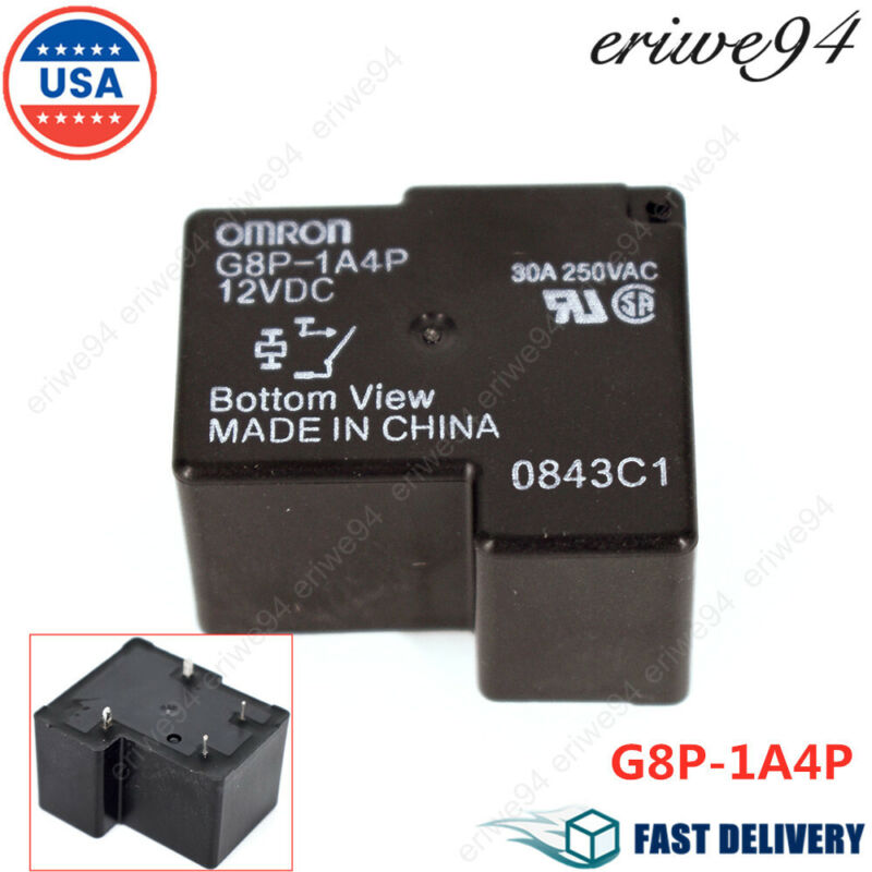 G8P-1A4P 12VDC General Purpose Relay For Omron 30A 250VAC Coil Sealed New US