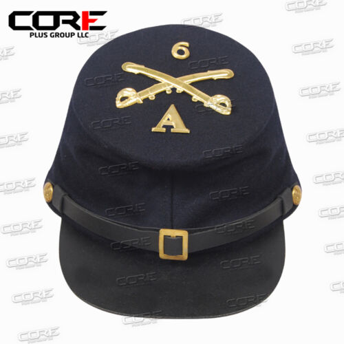 US Civil war 1861-1865 union  cavalry  kepi with Metal Badges All Size Available