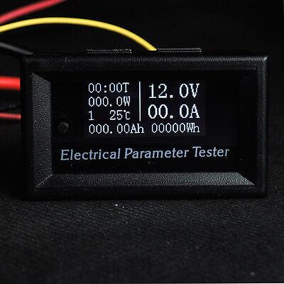 Dc 100v 20a Oled Voltmeter Ammeter Voltage Current Time Temperature Panel Meter