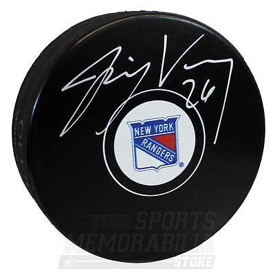 Jimmy Vesey New York Rangers Signed Autographed Rangers Hockey Puck