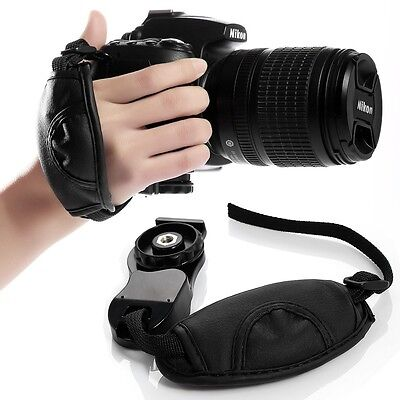 Hand Strap Grip - Camera Hand Grip For Canon EOS Nikon Sony Olympus SLR/DSLR Leather Wrist Strap