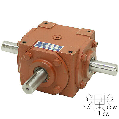 11 Right Angle Gearbox 32 Hp - 3 Keyed Shafts 13-1423-3k