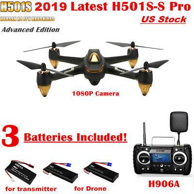 Hubsan X4 H501S PRO FPV Brushless RC Quadcopter 1080P HD Headless Follow Me RTF