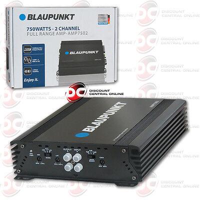 Blaupunkt Amp7502 Car Audio 2 Channel Amp Amplifier 750W Max Peak