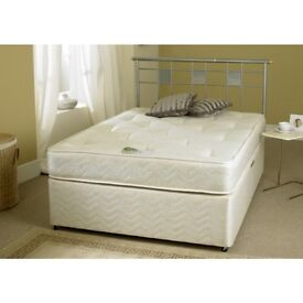WOW OFFER- KING SIZE DIVAN BED WITH 11.5 INCH FIRM MATTRESS - DOUBLE/SINGLE