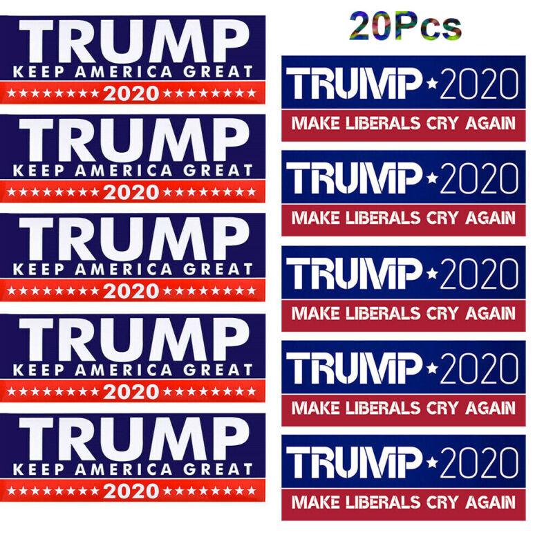 10x Trump Bumper Stickers 2020 Keep America Great + 10x Make Liberals Cry Again