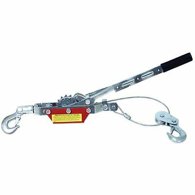 Big Jaw Pullers Red Come-along Double Gear Hand Cable 2 Hooks Ton 4000 Lb