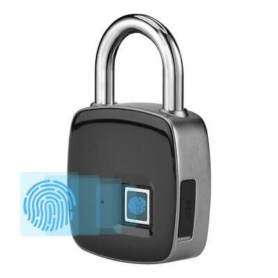 Smart Padlock Fingerprint Lock Keyless Waterproof, Anti-Theft Multifunction USB