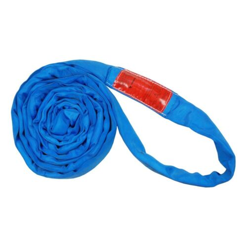 Polyester Lift Sling Endless Round Sling Blue 23000LBS Vertical, 8
