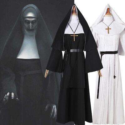 New The Nun Valak The Conjuring 2 Horror Movie Cosplay Costume Halloween Dress - Halloween New Film