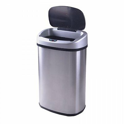 NEW Touch-Free Sensor Automatic Stainless-Steel Trash Can Kitchen 13-Gallon 368
