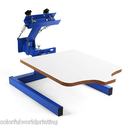 New 1 Color 1 Station Silk Screen Printing Machine 1-1 Press Diy T-shirt Print