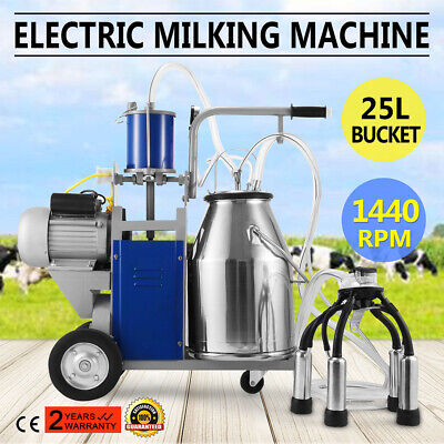 Stainless Steel 25l Electric Milking Machine For Farm Cows 550w 12 Cowshour 304