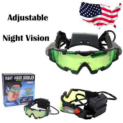 a669a9f09816 Adjustable Elastic Band Night Vision LED Goggles Glasses Eyeshield w/ Green  Lens