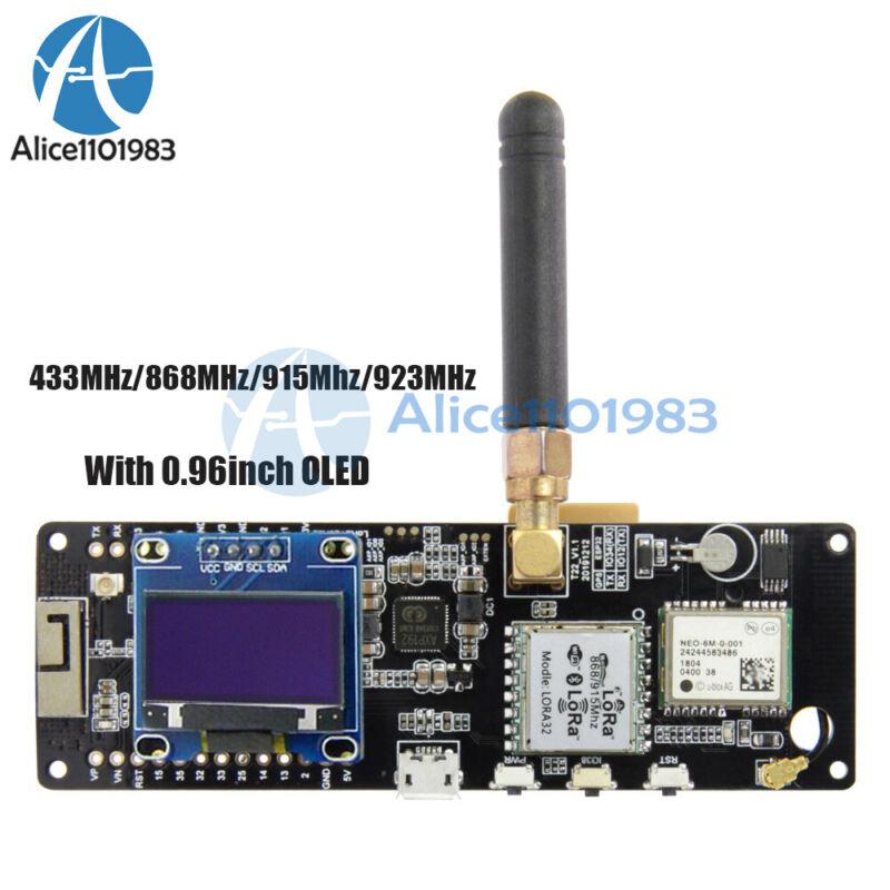 T-beam Esp32 433/868/915/923mhz Wifi Bluetooth Esp32 Neo-6m With Oled