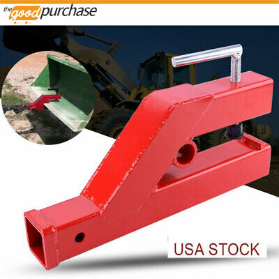 Clamp On Trailer Receiver Hitch 2 Ball Mount Tractor Bucket Lip Gap Skid Steer