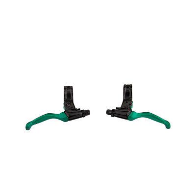 Evoke Bmx MTB Maneta de Freno Par Negro/Verde 22.2mm Abrazadera