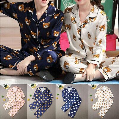Boy Girl Christmas Pajamas Set Xmas Silk Toddler Baby Kids Sleepwear Nightwear
