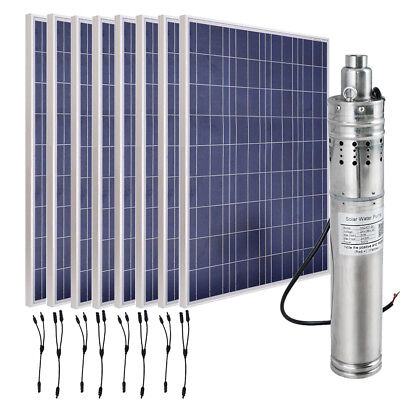 Solar System Scales (800W Solar Panel Well Water Pump kit Large Scale Watering System Farm)