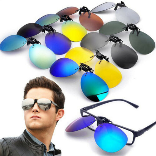 Clip On Flip Up Sunglasses Lens UV400 Polarized Driving Spectacles Extension Clothing, Shoes & Accessories