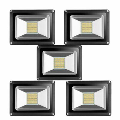 5x 30w Led Flood Light Warm White Outdoor Yard Spotlight Lamp Floodlight Dc12v