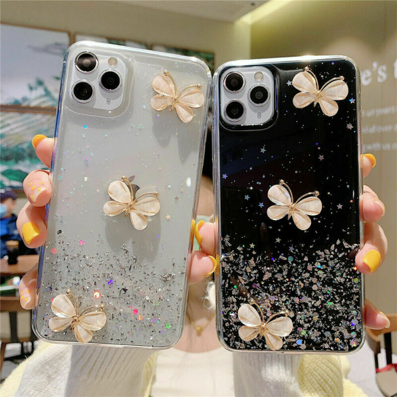 For Apple iPhone 12 Pro Max 12 Cute Glitter Bling ...