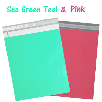 12x15 Poly Mailers Sea Green Teal Pink Designer Mint Shipping Self Seal Bag Lot