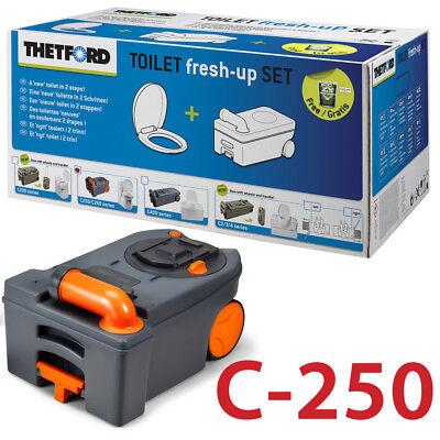 THETFORD FRESH UP SET C250/C260 CASSETTE CAMPING ABWASSER FÄKALIENTANK REINIGER