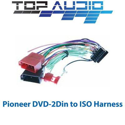 Pioneer To Iso Wiring Harness For Deh X8550bt Deh X6550bt Deh