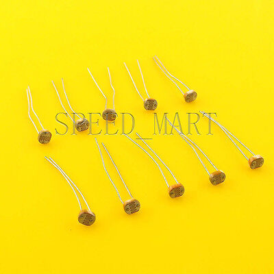 10 Pcs Photoresistor Ldr Cds 5mm Light-dependent Resistor Sensor Gl5528 Arduino