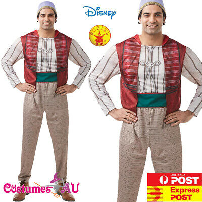 Licensed Mens Genie Aladdin Disney Live Action Costume Halloween Book Week Adult - Action Man Halloween