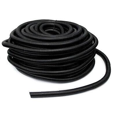 20' Feet 21mm Width Split Loom Wire Flexible Tubing Conduit Hose Car Audio Sales