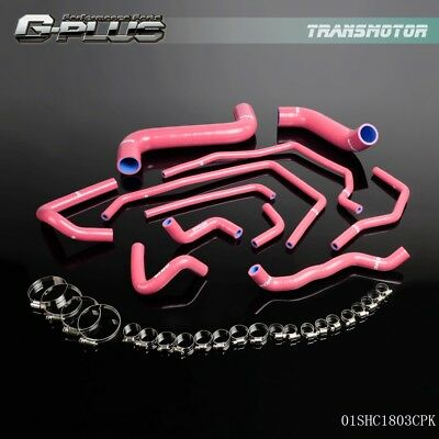 Silicone Radiator Hose Kit Pink For Subaru Impreza WRX/STi GDA/GDB EJ207 02-06 (Wrx Silicone)